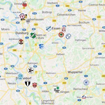 Landkarte der Landesliga Gruppe 1 Saison 2019/20
