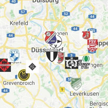 Landkarte Landesliga Gruppe 1 Saison 2020/2021